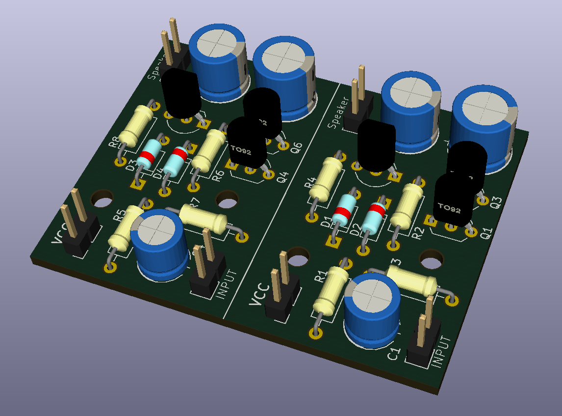 Audio Amplifier With Common Transistors One Transistor Simple Preamplifier Circuit Using Single 2n3904 3d Prototype