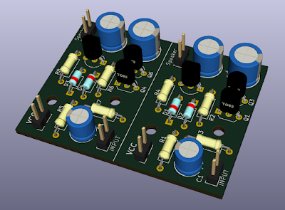 Audio amplifier 3D prototype