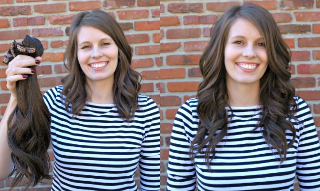 Before & After - Obsessed with Irresistible Me Hair Extensions for my thin, fine hair.