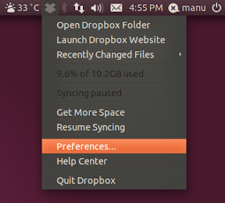 Dropbox Application Indicator Ubuntu 11.04