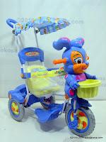 Sepeda Roda Tiga ROYAL RY9888C Baby Roi dengan Mainan Interaktif