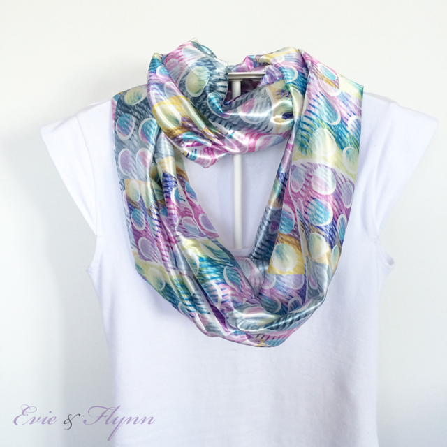 Satin Infinity Scarf ~ Threading My Way