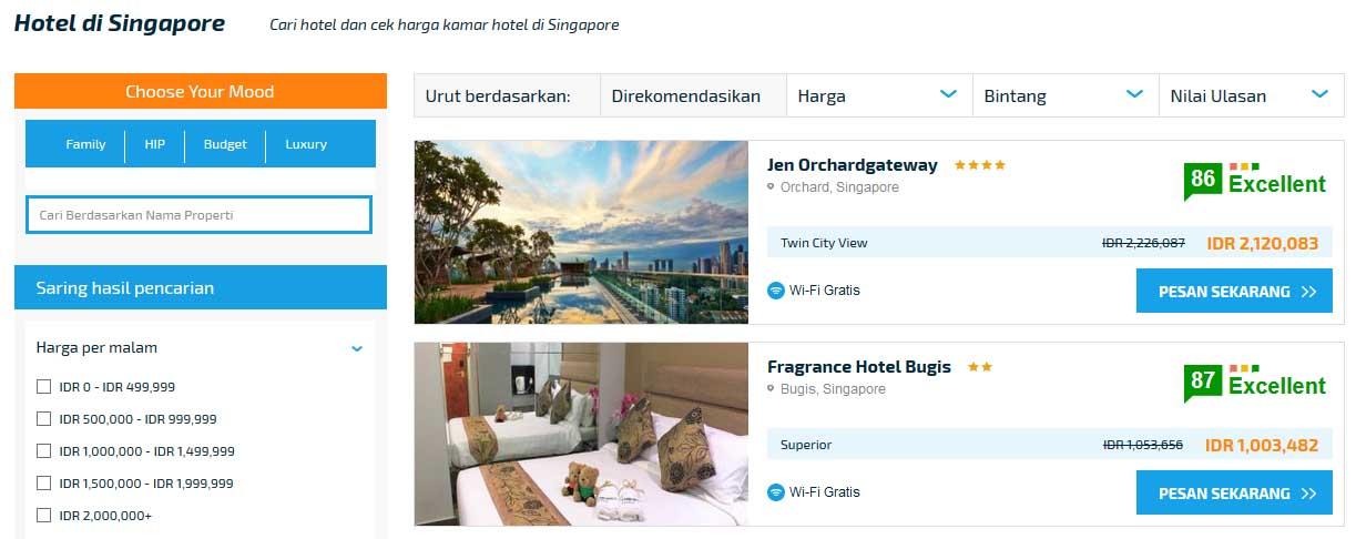 Hotel di Singapura