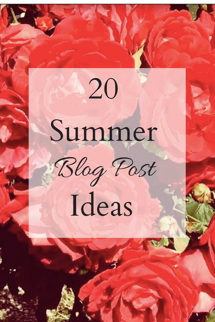 Summer Lifestyle Blog Post Ideas
