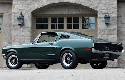1968 Green Mustang Bullit Fastback Rear Left