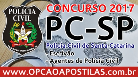 Apostilas Concurso Polícia Civil SC 2017