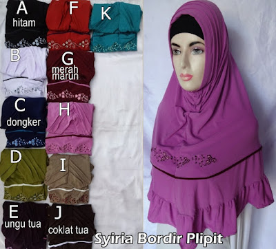 Model Jilbab Terbaru Syiria Bordir Plipit