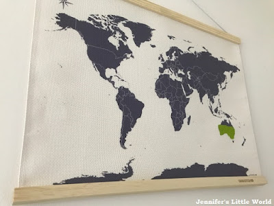 Cross stitch map by Suck UK just started