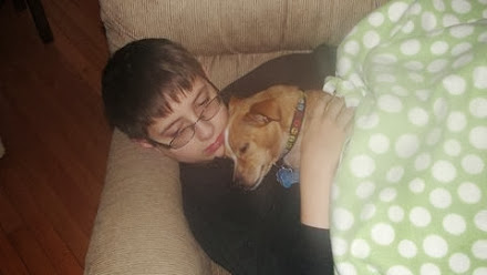 A boy and his best friend.