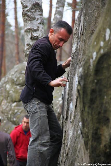 Jean-Phi dans la Mise à pied, 8 rouge, Isatis, Fontainebleau