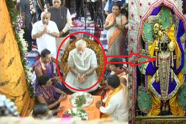 pm-narendra-modi-visit-dwarkadheesh-temple-pooja-darshan-photo