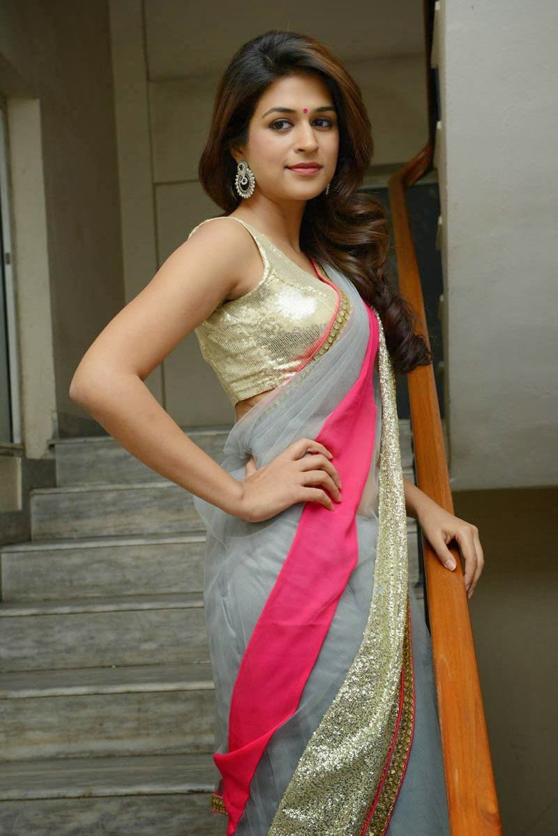 SHRADDHA DAS hot poses in saree at Rey movie teaser launch