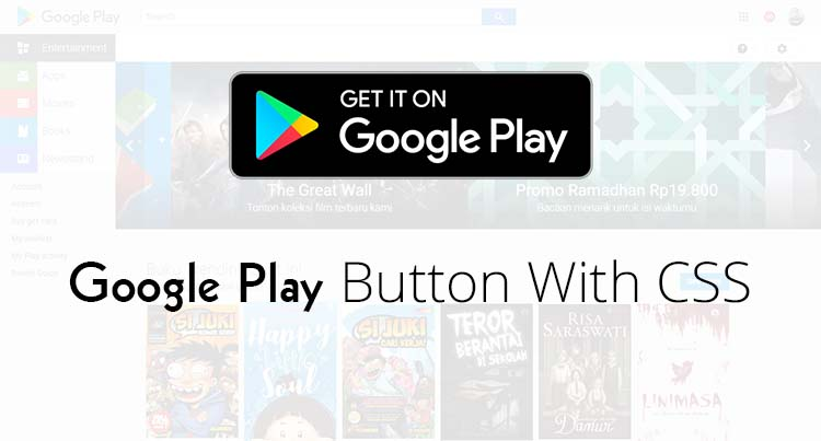 Google Play Button With CSS
