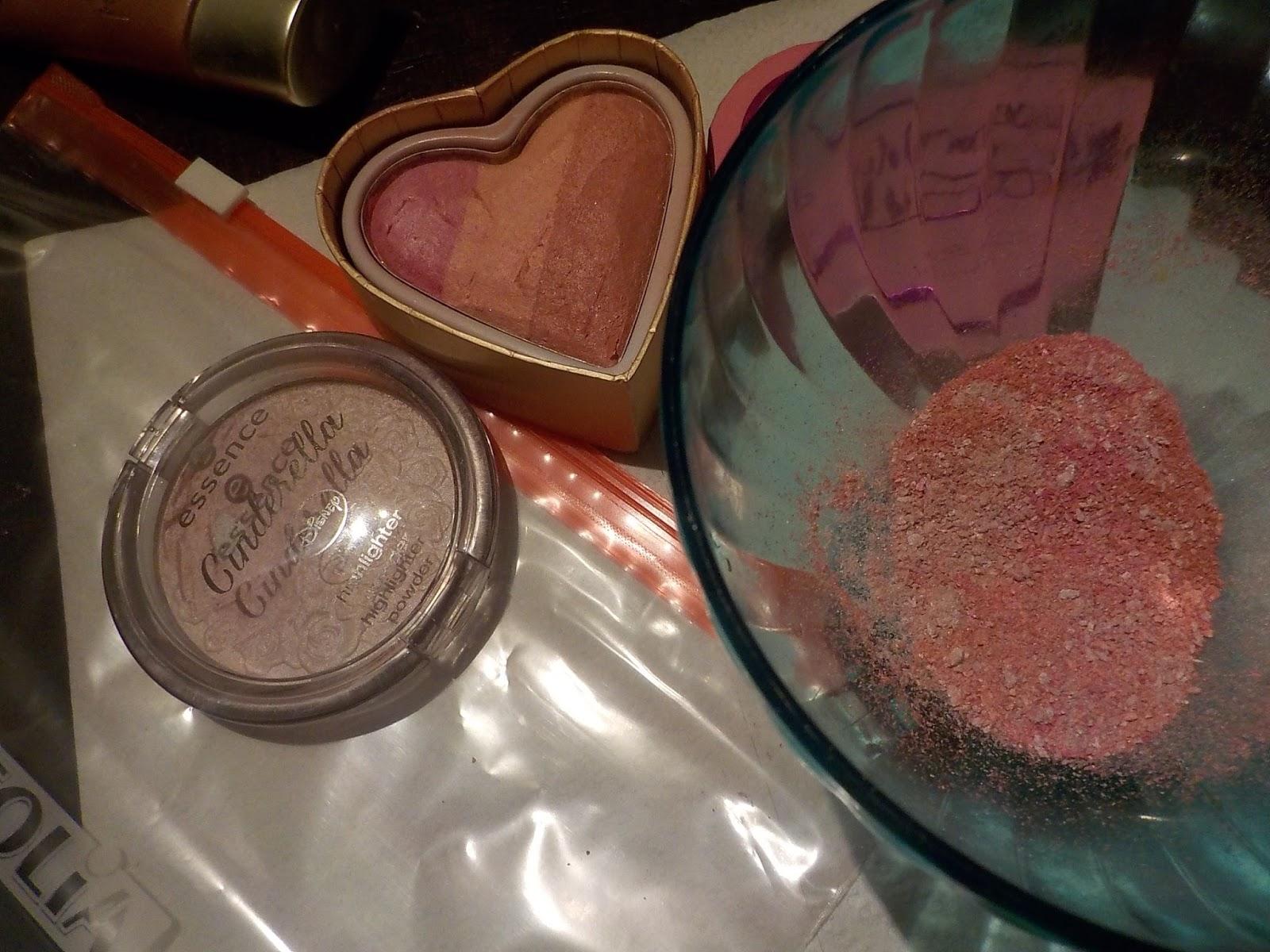 Tarro rosa en polvo vintage
