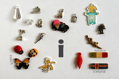 TomToy Individual letter I I spy trinkets for alphabet, Miniature abc objects, Montessori alphabet. Sorting toddler activities