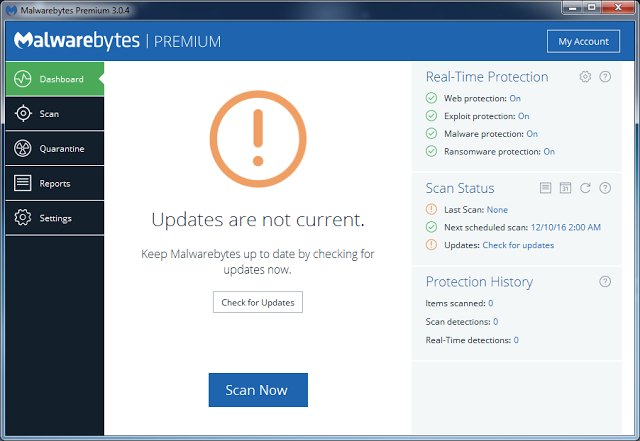 Malwarebytes 3.0.6 Premium Full Serial Key