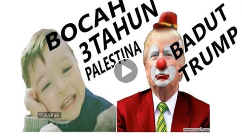 Keberanian Ziyad Al Fakhury Bocah Palestina Berusia 3 Tahun: DONALD TRUMP adalah Seorang Badut!