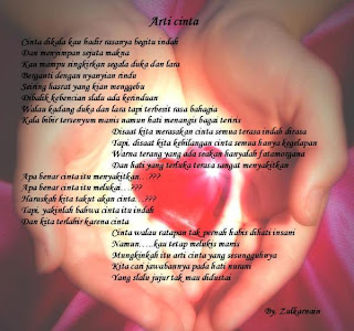 Puisi Arti Cinta 2017