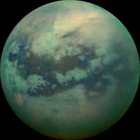 Infrared view of Saturn's largest moon, Titan