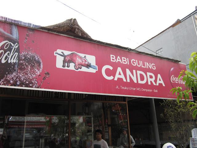 Tempat Wisata Kuliner di Bali yaitu Babi Guling Candra