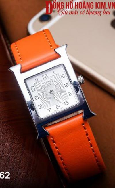 đồng hồ nữ dây da đẹp mặt vuông