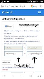 Custom Domain Zone.Id ke Blogspot