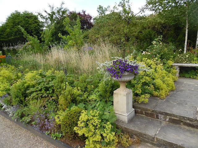 schody kamienne, przywrotnik, angielski ogród