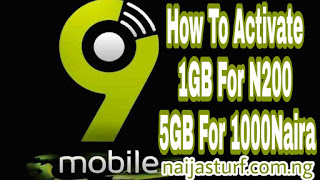 Data bonus on 9mobile