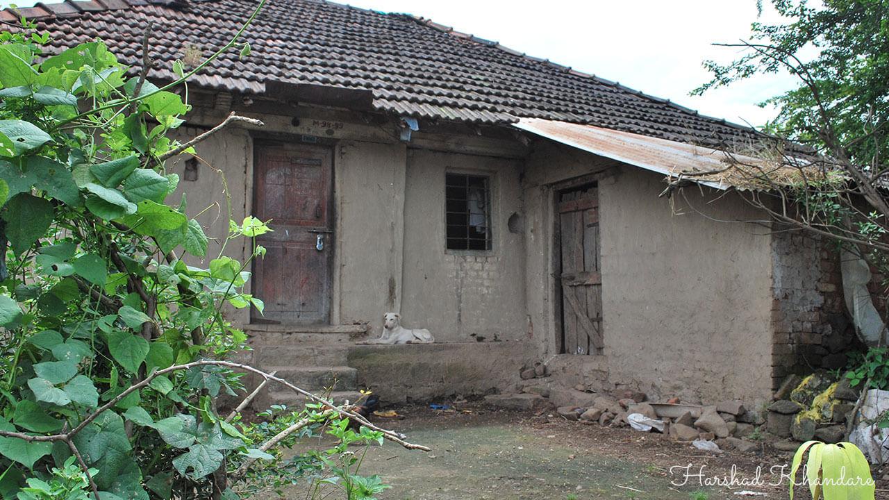 शेतातल्या घराची मागची बाजू