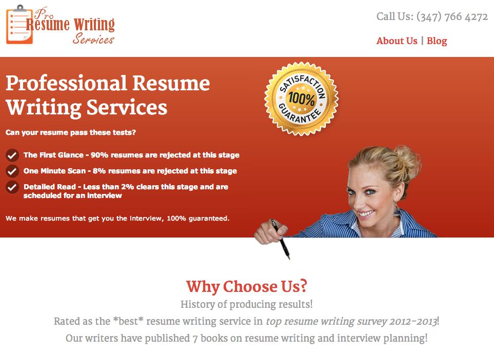 resume writing jobs toronto