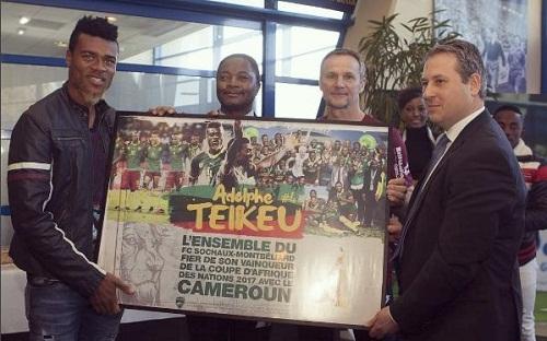 Le FC Sochaux organise une cérémonie en l'honneur du champion d'Afrique Adolphe Teikeu