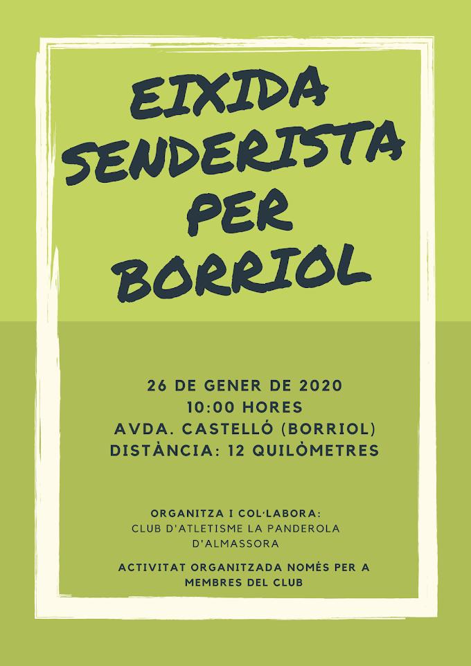 EIXIDA SENDERISTA PER BORRIOL 2020