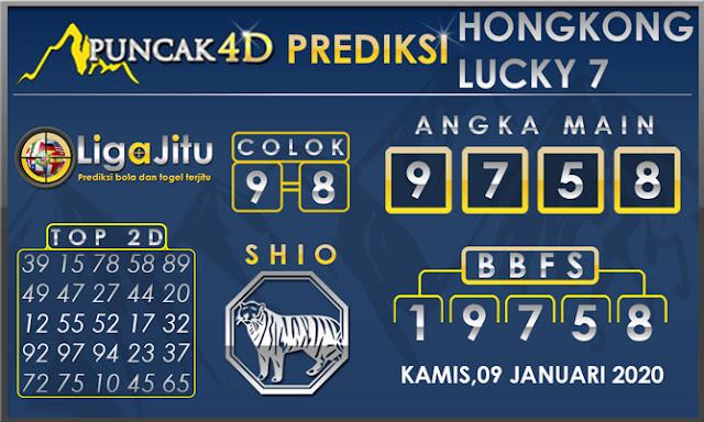PREDIKSI TOGEL HONGKONG LUCKY7 PUNCAK4D 09 JANUARI 2020