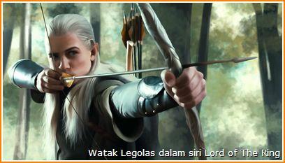 Gambar Legolas dari francais filem Lord of The Ring