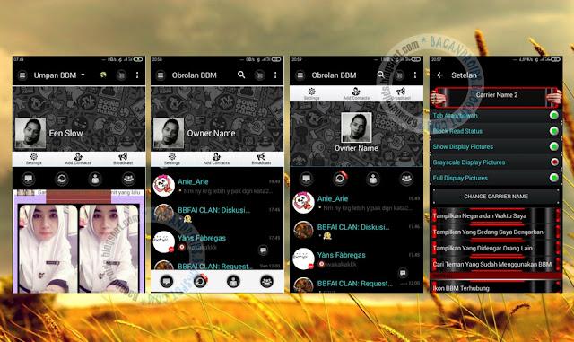 download BBM Mod Thema Black Dominan Versi Terbaru 2.12.0.9 Apk