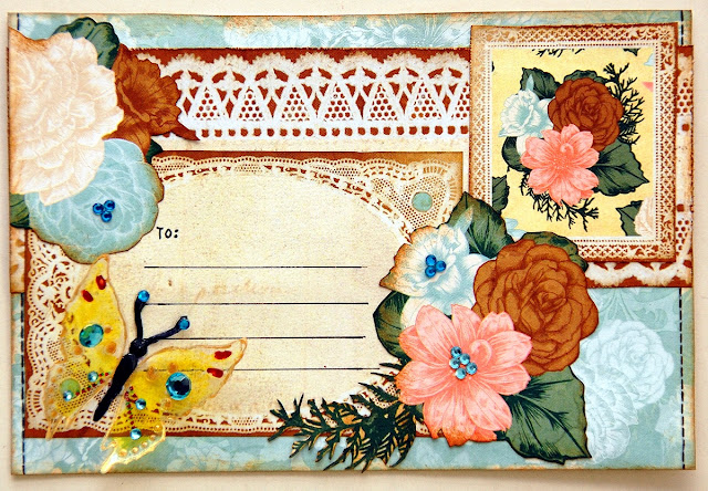 Altered Mail Art by Irene Tan using BoBunny Felicity Collection
