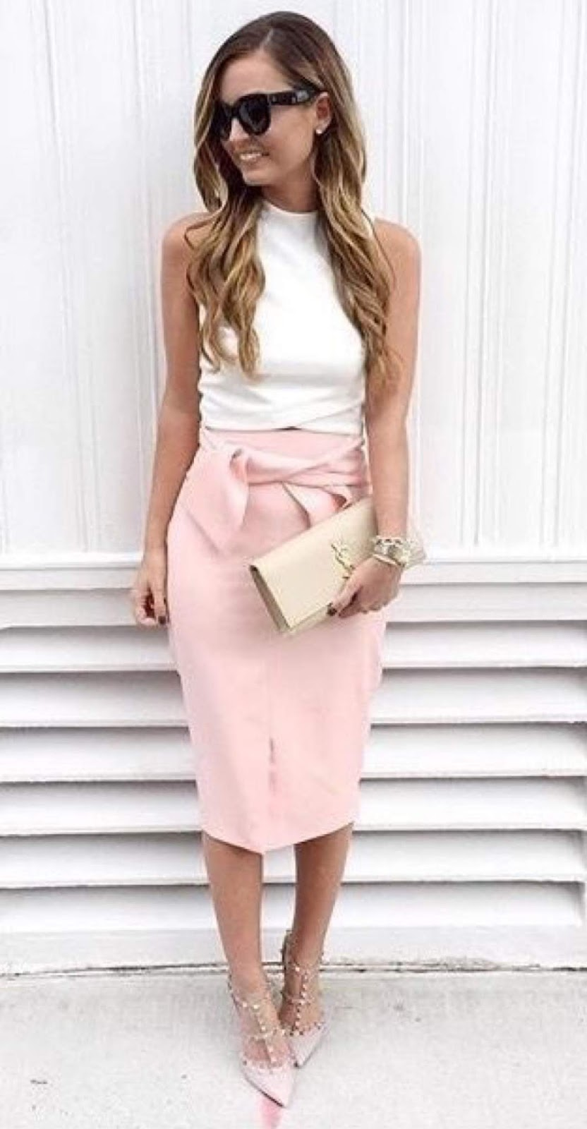 Cute Summer Chic Office Outfit Idea