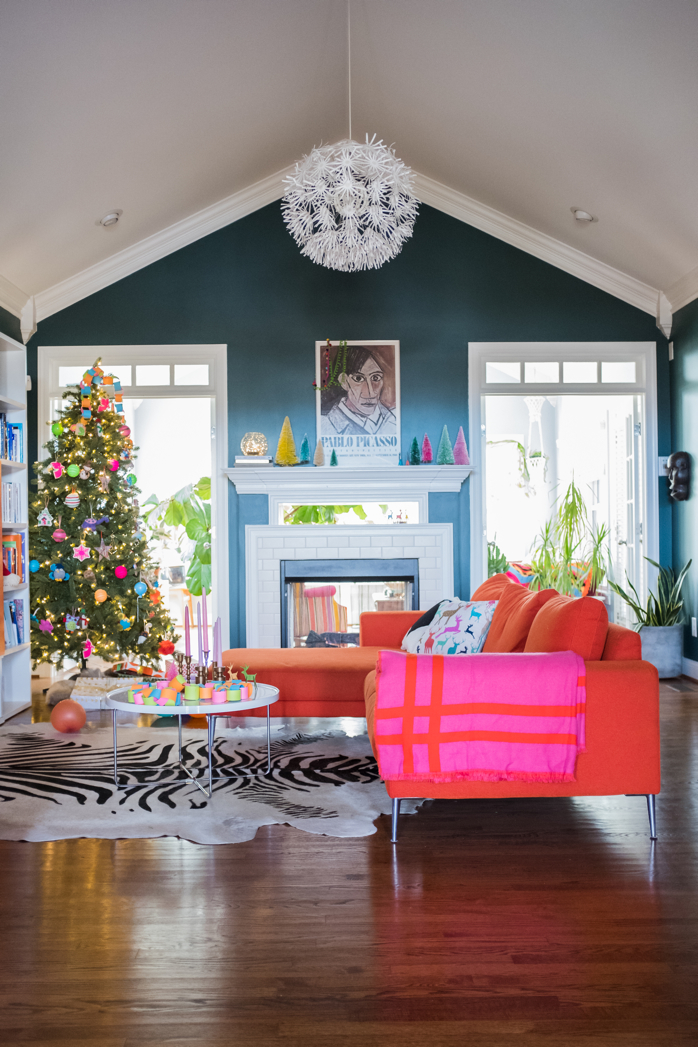 Our Baby Friendly Christmas Decoration in the Living Room- designaddictmom
