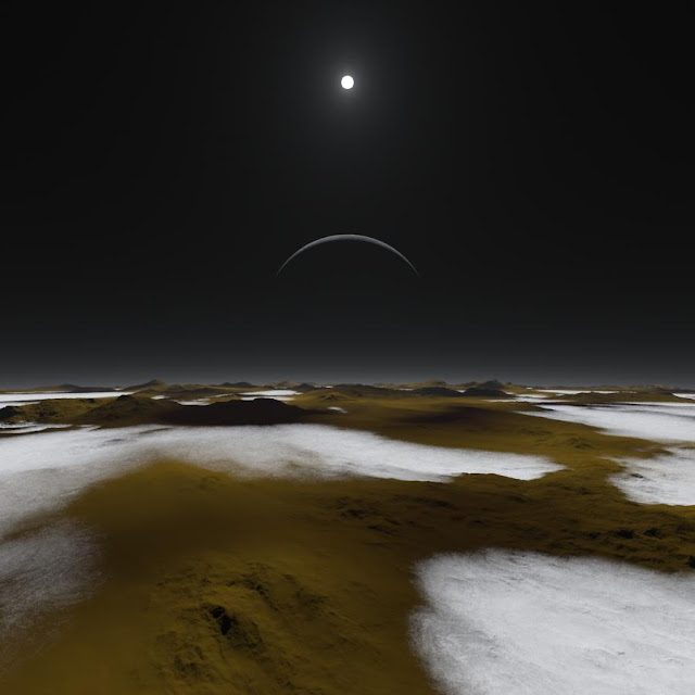 Artist's Impression of the Surface of Pluto
