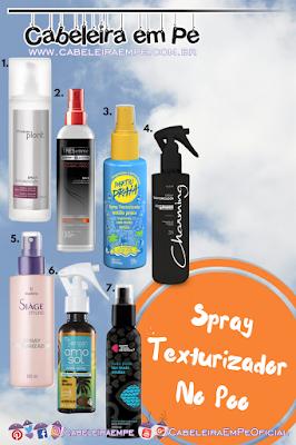 Sprays Texturizadores Liberados para No Poo (Natura, Tresemmé, Sou Dessas, Charming, Eudora, Yenzah, Quem Disse Berenice)