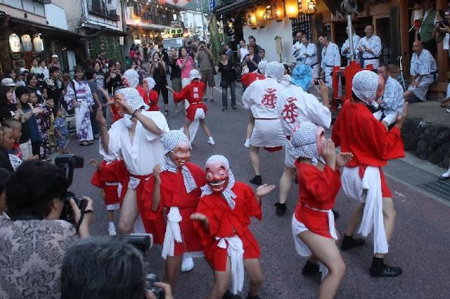 Dorogawa Gyoja Matsuri (demon dance festival), Tenkawa Village, Nara Pref.