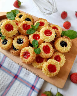 Ide Resep Kue Kering Cheese Thumbprint Cookies With Jam