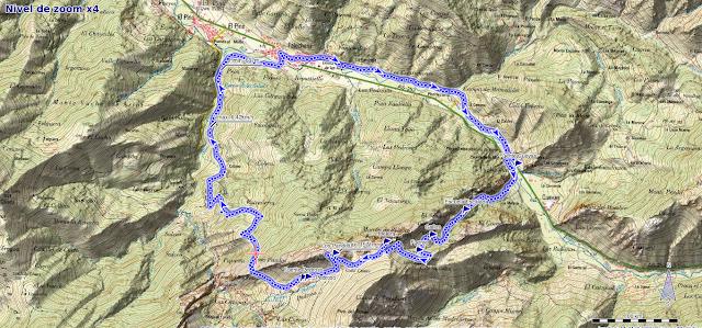 Ruta a Peña Melera y Los Pandos: Mapa de la ruta a Peña Melera desde Felechosa