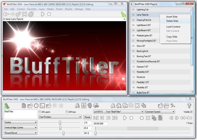 تحميل برنامج صنع مقدمات الفيديو  blufftitler رابط مباشر