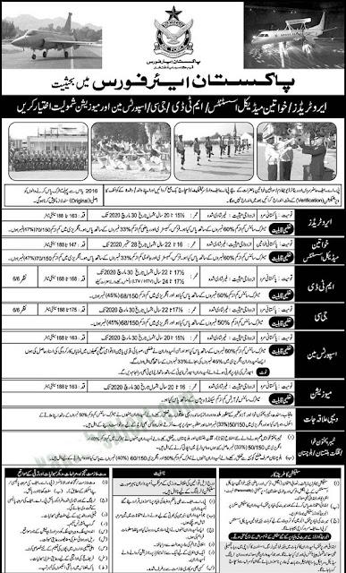 pakistan-air-force-paf-jobs-July-2020-online-registration