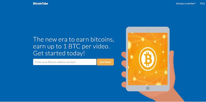 Kiếm Bitcoin (BTC) từ việc xem video quảng cáo với Bitcointube - Minpay 0.001 BTC