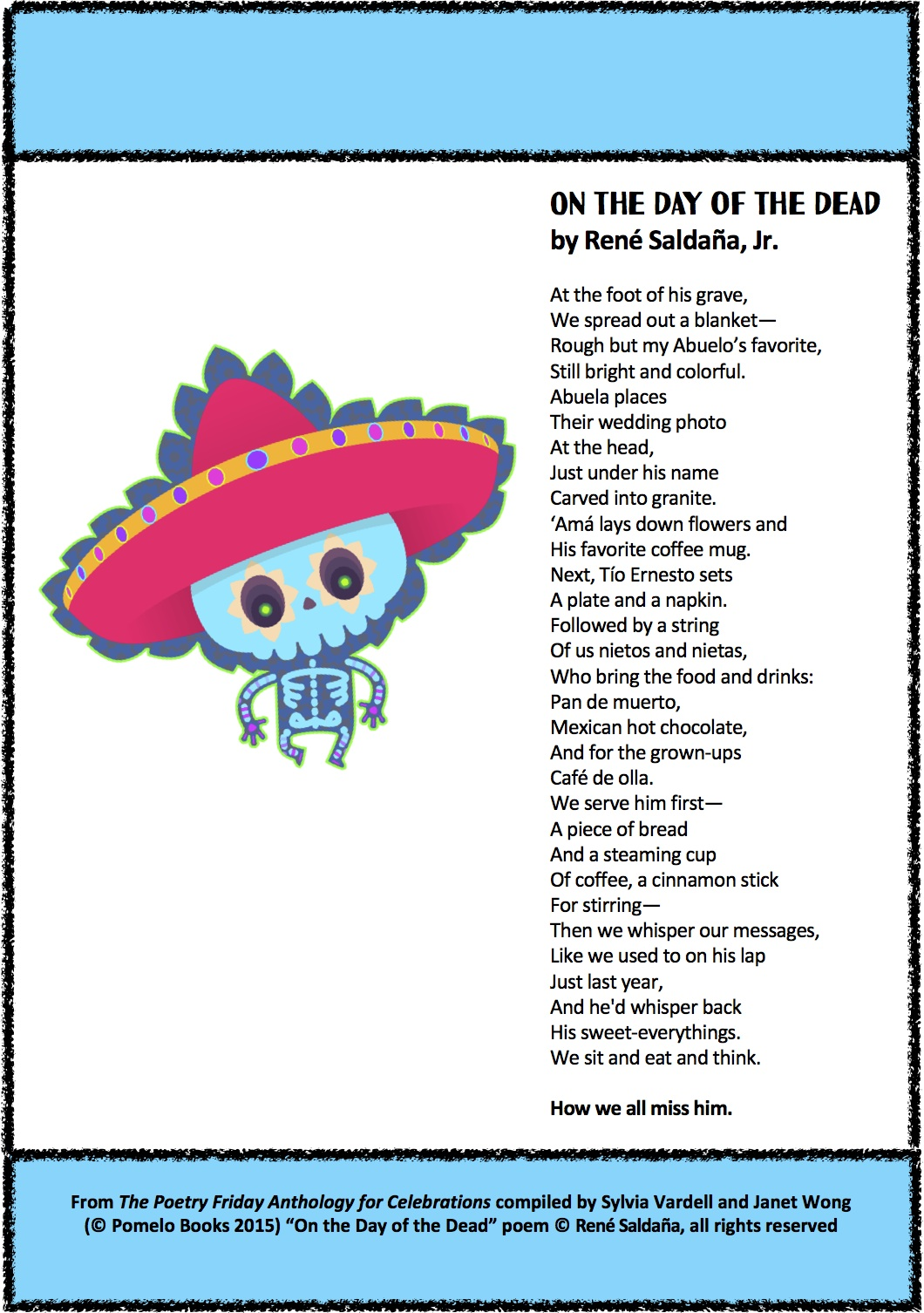 Poetry For Children Celebrating Day Of The Dead