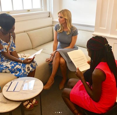 Photos: Ivanka Trump celebrates her meeting with two Chibok Schoolgirls at the White House