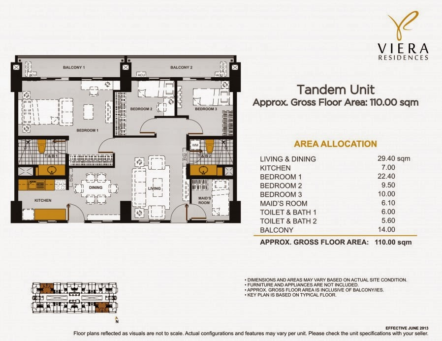 Viera Residences 3 Bedroom Tandem Unit w_Maid_s Room