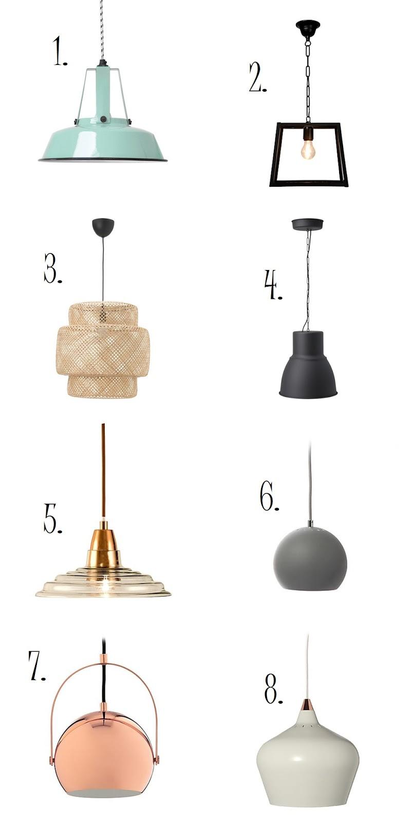 lampy nad stołem w salonie ikea
